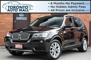 2013 BMW X3 XDRIVE 28I+NAVIGATION+360 CAMERA+PANO ROOF+XENON