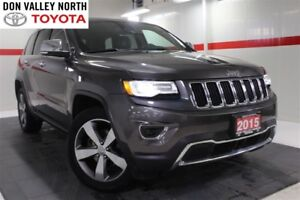 2015 Jeep Grand Cherokee Limited 4WD Sunroof Nav Btooth BU Cam L