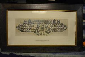 "VINTAGE FRAME ""LA LEGISLATURE DE QUEBEC-1912"" 33X19 inch"