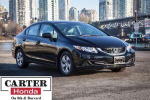 2015 Honda Civic LX + LOW KMS! + BACKUP CAM + CERTIFIED!
