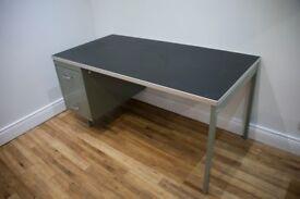 2 x 1960s retro metal office desks in original condition