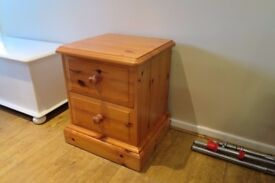 Solid pine chunky bedside table £20