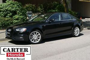 2015 Audi A4 2.0T Progressiv plus + LOW KMS! + NO ACCIDENTS!