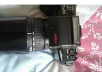 Pentax sfxn top of range 35mm camera with sigma 100-300 lens