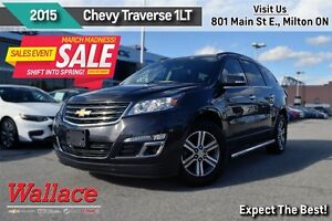 2015 Chevrolet Traverse LT 1LT/1-OWNER/ACCIDENT-FREE/HEATED SEAT