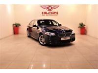 BMW 5 SERIES 3.0 530D M SPORT 4d AUTO 242 BHP + SAT NAV + HEATE (blue) 2011