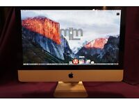 "21.5"" APPLE iMac 3.06Ghz CORE i3 4GB 500GB HD LOGIC PRO X CUBASE 8 ABLETON LIVE FL STUDIO 11 REASON"
