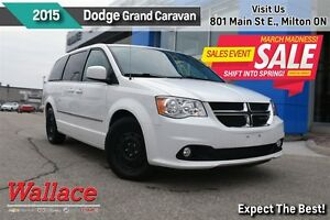 2015 Dodge Grand Caravan CREW PLUS/SUNROOF/BACKUP CAM/UCONNECT/7