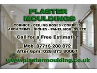 Plaster Moulding - Cornice - Ceiling Roses, Etc Supplied & Fitted - Best Prices Throughout N.Ireland