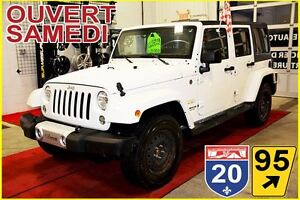 2015 Jeep WRANGLER UNLIMITED SAHARA * HITCH D'ORIGINE * 2 TOITS
