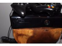 XBOX 360+KINECT- CONSOLE/2 WIRELESS CONTROLLER/17 GAME'S