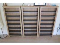 3x CD/DVD/Media/Books Storage Unit Bookcase