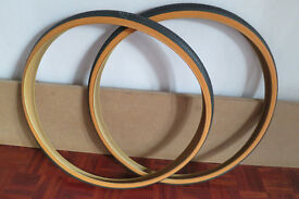 "Michelin World Tour 27 x 1 1/4"" Amberwall tyres x 2 (1 pair) New **Bargain**"