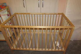 Ikea Cot and changing table with extras