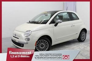 2013 Fiat 500 Lounge*CUIR+TOIT+BLUETOOTH+MAGS*