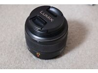 Lumix leica 25mm 1.4 excellent lens, excellent condition, hardly used