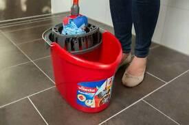 NEW Vileda SuperMocio Mop Bucket and Wringer