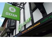 Come and join our fantastic volunteer team at Oxfam, Leominster!