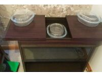 Hostess Trolley with three glass dishes almost new and little used.