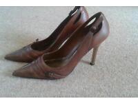 Genuine Italian leather stilettos size 6