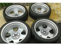 18 inch alloys with tyres