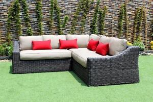 FREE Delivery in Edmonton! Outdoor Patio Wicker Sunbrella Sectional by Cieux! Brand New!