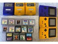 Gameboy colour bundle 3 Consoles 16 games