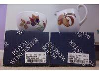 "Royal Worcester ""Evesham Vale"" Sugar Bowl & Cream Jug. Brand new & boxed"