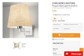 Chelsom wall lights x 4.