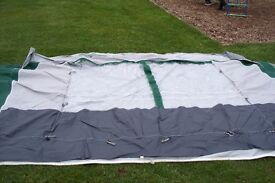 12 foot Caravan Awning NR Awnings, Green/Grey, Excellent Condition, Hardly Used