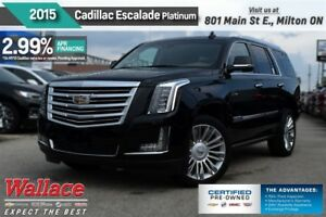 2015 Cadillac Escalade 2.99% FINANCE UP TO 60MNTHS/PLATINUM/LOAD