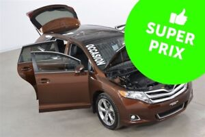 2015 Toyota Venza V6 4WD XLE GPS+Cuir+Toit Pano+Demarreur a Dist