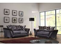 DOLCE BLACK/GREY 3 SEATER £379 AND GET 2 SEATER FREE !! BRAND NEW PLUS FREE DELIVERY SOME AREAS