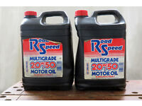 20w/50 Road Speed Multigrade Car Engine Oil. 7ltr (approx) - Free
