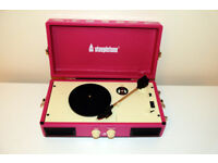 Cute vinyl record player, portable with inbuilt speakers