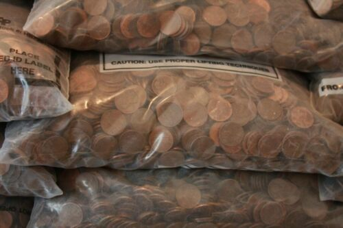 10 Pounds of US Copper Pennies 1909-1982
