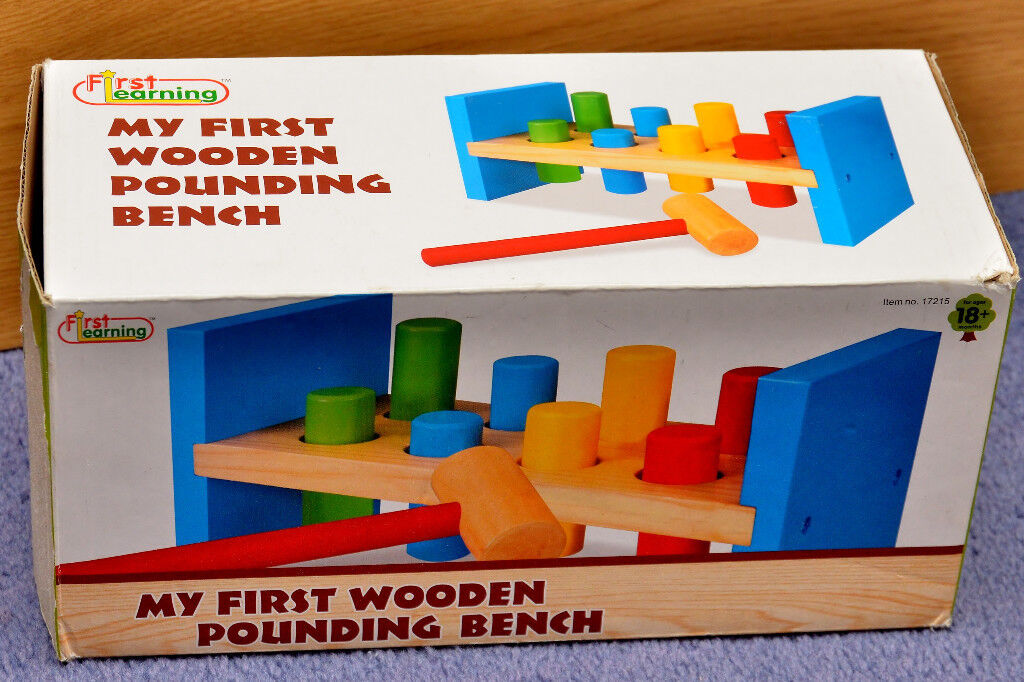 Traditional Toys : My Fist Wooden Pounding Bench With Hammer