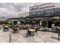 Experienced Waiters and Waitress' for Albert's Restaurant and Bar