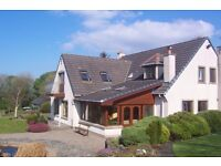 Superior detached house with superb ocean and country views, approx 3 miles from Coleraine