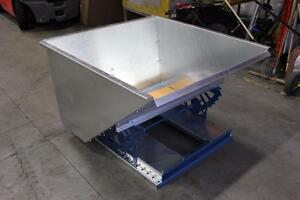 1 cu yd - Self-Dumping Galvanized Hopper  **Assembly Required**