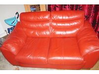 2 and 3 seater leather sofa' s