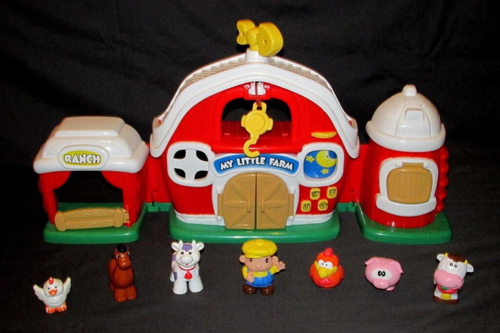 ELC MY LITTLE FARM PLAYSET WITH SOUNDS. COMES WITH FARMER & ANIMALS ...