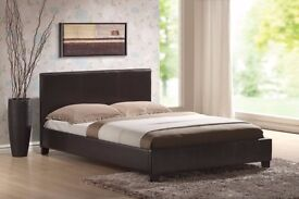 ITALIAN DESIGN::: MODERN LOOK::: NEW 5FT King Size Leather Bed with 10inch Royal Orthopedic Mattress