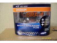 osram h7 nite breaker bulbs x2