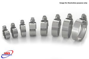 SHERCO-Trial-125-250-290-2011-Acero-Inoxidable-Manguera-Del-Radiador-Clip-Kit