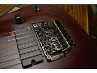Schecter JL-7 FR Jeff Loomis 7-String Electric Guitar VRS + belt and straplocks