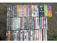 JOB LOT OF VHS VIDEO'S. PLUS 2 BOX SETS.