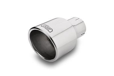 Auspuffblende Endrohr 100 mm rund abgeschrägt Edelstahl in Sportauspuff Optik