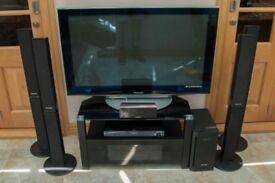 "Panasonic TX-P42V10B 42"" 1080p HD Plasma Television 5.1 Surround Speakers Bluray"