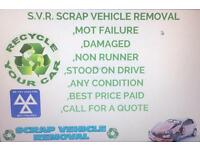 WANTED SCRAP MY CAR OR VAN BEST PRICE PAYED PICK UP WITH 1HR ANY CONDITION MOT FAILER NON RUNNER